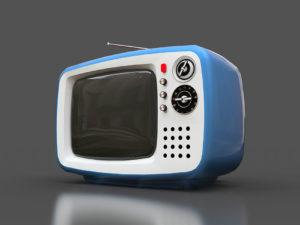 Téléviseur rétro, télé vintage pour illustrer l'article de Philippe Monnier.
