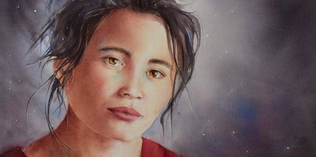 Sapana, une aquarelle d'Eléna Blondeau.
