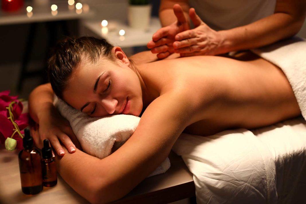 Séance de massage.