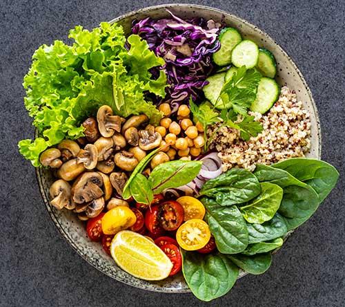 Nourriture saine, nutrithérapie.