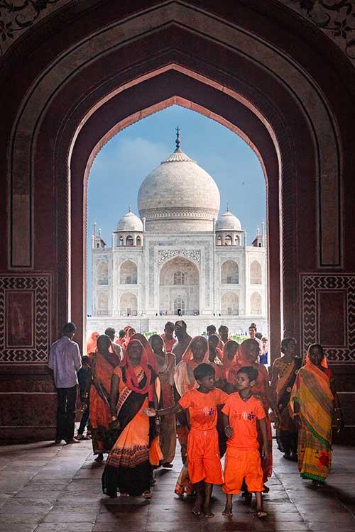 Le Taj Mahal, une photographie de Jérémy Blatti, coup de coeur du jury pour le concours photo sur le thème du voyage pour le magazine Découverte.