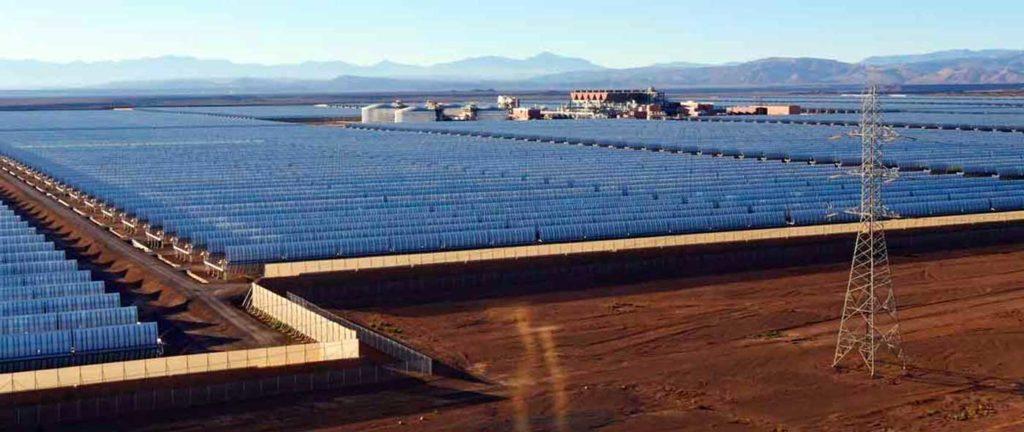 La centrale solaire de Noor au Maroc.