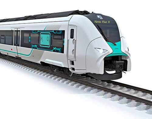 Un train à hydrogène imaginé par Siemens.