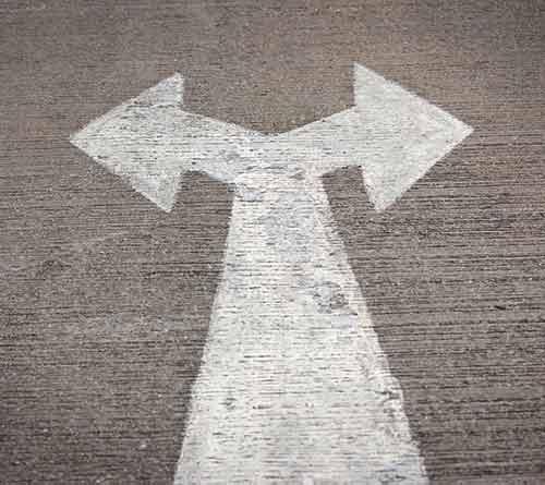 À droite ou à gauche? Avoir le choix.