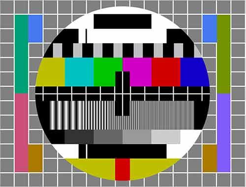 La mire télévisuelle.