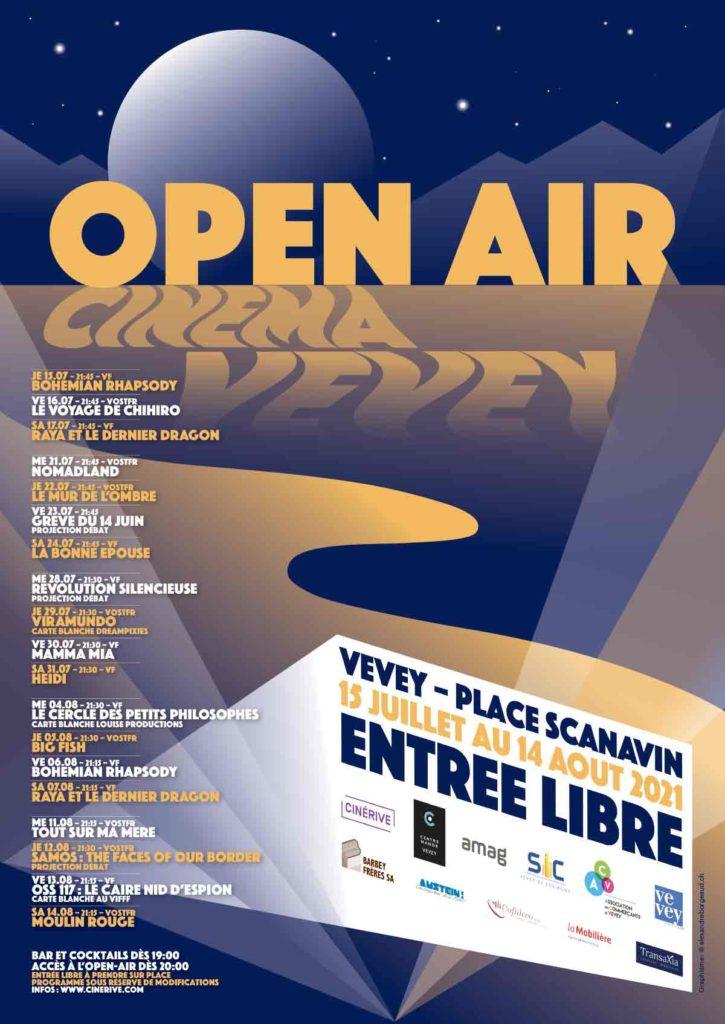 Cinéma open-air à Vevey (VD) avec Découverte magazine.