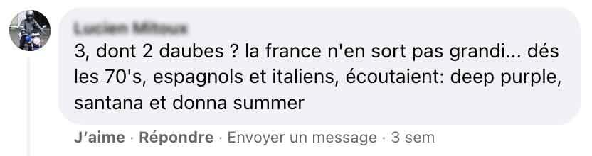 """Réactions des utilisateurs de facebook à la chronique """"Les tubes de l'été 1981""""."""